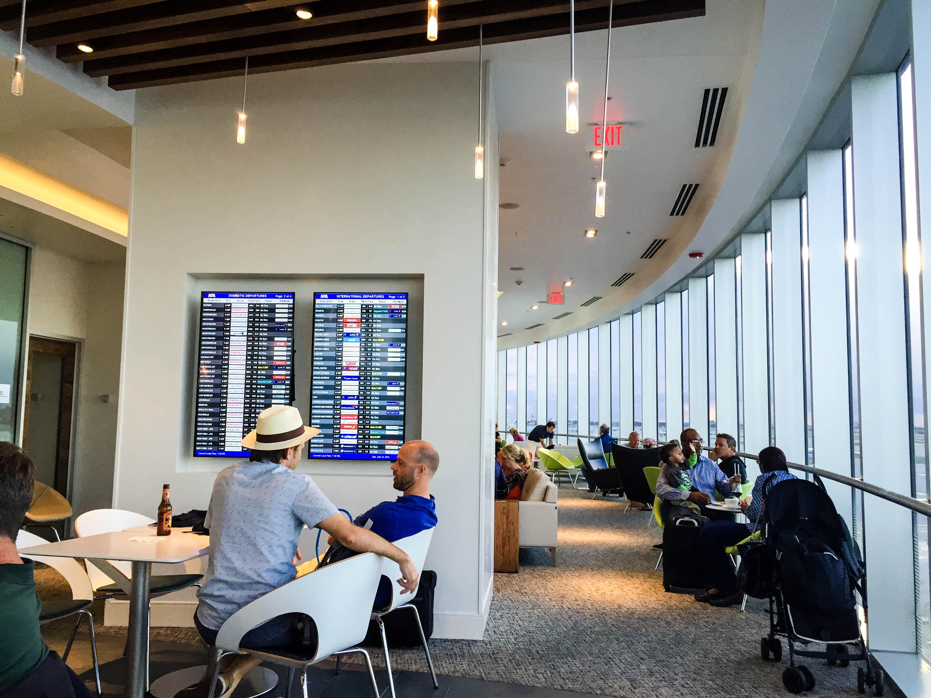 Centurion Lounge at MIA Airport